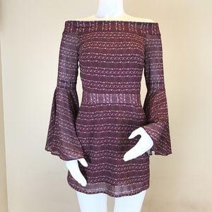 We Are Kindred Off The Shoulder Joplin Mini Dress